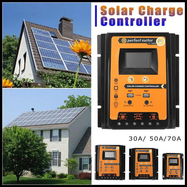 30A 12V 24V Solar Cell Panels Battery Charge Controller Timer Solar Home System