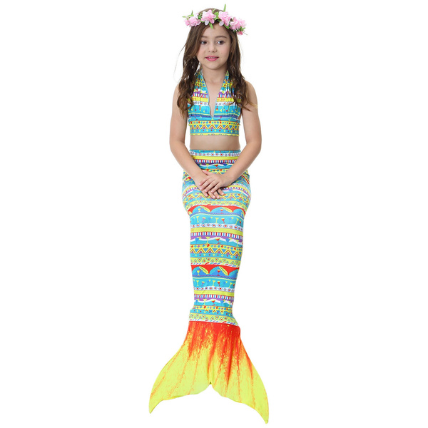 a44d225343c33 Details about Kids Girls Mermaid Tail Monofin Swimmable Swimming ...