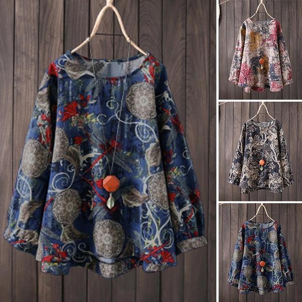 blouse, roundneckshirt, Cotton, Fashion