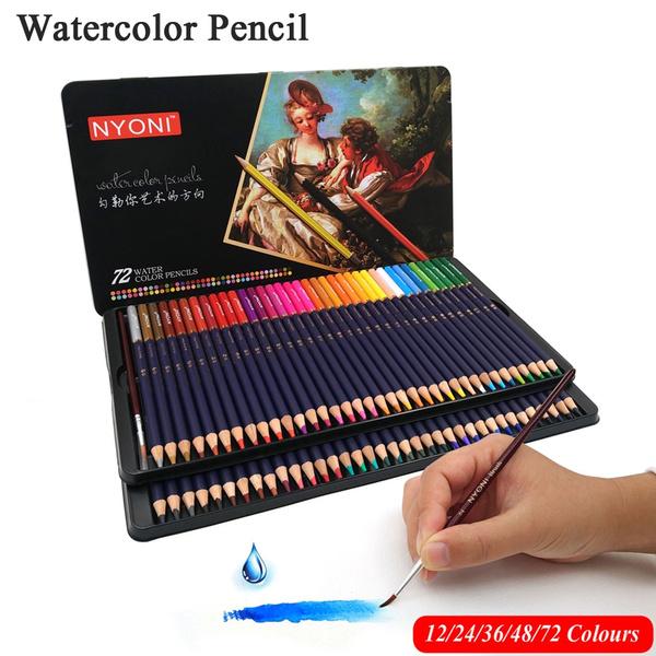 Color Pencils Coloring Drawing Art 12,24,36, Colors Set