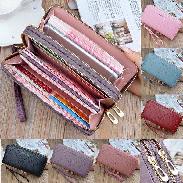 wallets for women, leather wallet, zipperpurse, Wallet
