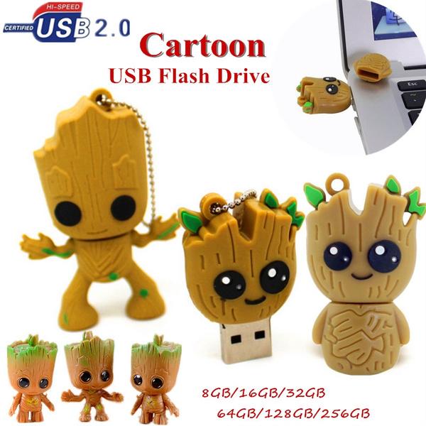 128GB 2.0 Cartoon Groot FLASH DRIVE