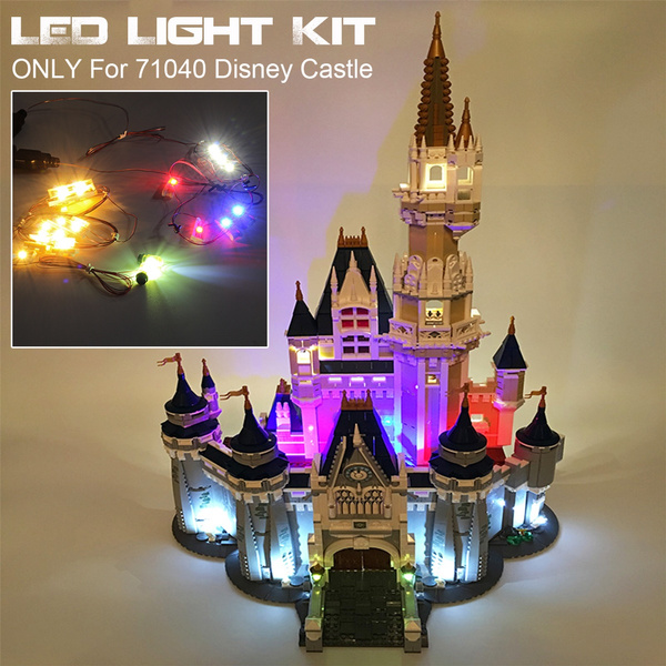 Ordinary Edition LED Light Lighting ONLY For Lego 71040 Disney Castle Brick USB