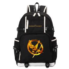 travel backpack, black backpack, thehungergame, Cosplay