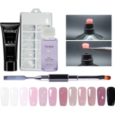 polygel, uvbuilderkit, acrylic nail set, Nails