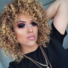 wig, brown, Fiber, ombrecolor