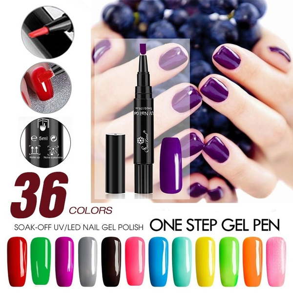 36 Colors 3 In 1 Gel Nail Polish Pen One Step Painting Varnish Pencil 3 In 1 Nail Gel Polish Easy To Use Uv Gel Manicur Nail Diy Gel Lacquer