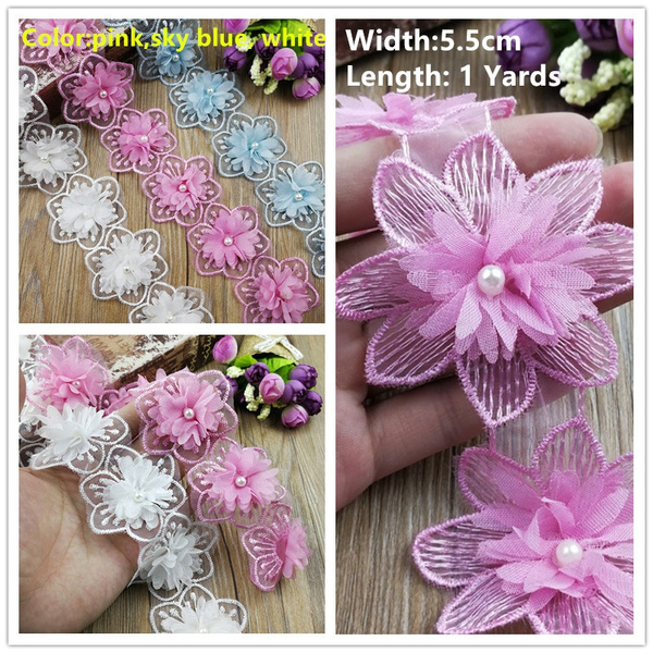 lace trim, Flowers, sewinglace, chiffon