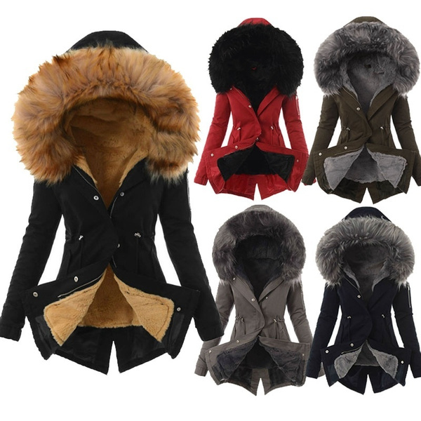 fauxfurcoat, hooded, fur, keepwarmcoat