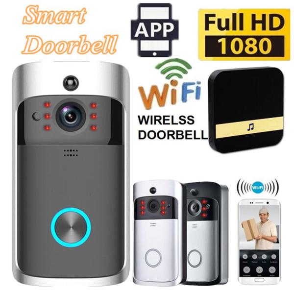 SECURITY GUARDIAN 2019 1080P WiFi Smart Wireless Security DoorBell HD  Visual Intercom Recording Video Doorphone With Indoor Chime Night Vision  PIR
