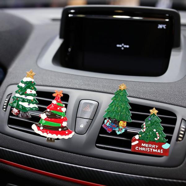 Mini Air Conditioner Outlet Christmas Tree Clip Perfume Car Ornament Freshener Dashboard Decor