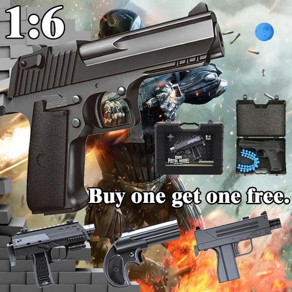 1Set Mini Peashooter Simulation Metal Cover Cool Black BB Gun Toy Kid  Christmas Toys