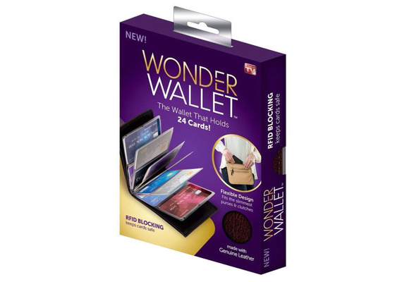 Black Leather Wonder Wallet Amazing Slim RFID Wallets