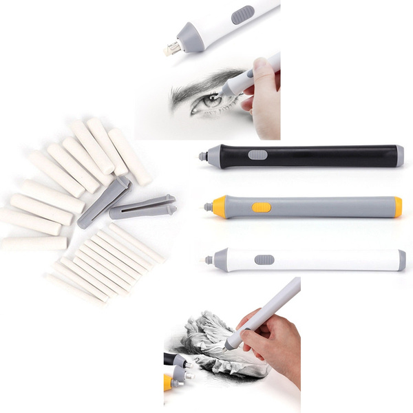 High Quality 2.3mm 5mm Electric Eraser battery Operated eraser With 10+12Pcs