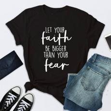 Plus Size, Christian, letter print, short sleeved tshirt
