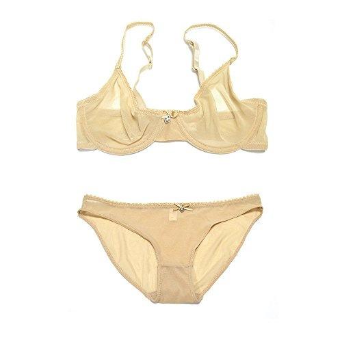 1e6f3c250 Vogue s Secret Women s Sheer See-Through Bra Plus Size Unlined ...