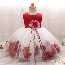 girls dress, Lace, red dresses, Dress