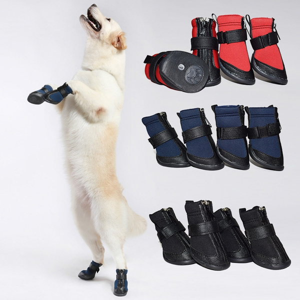 14dcde74d7 4Pcs Set Winter Warm Pet Dog Shoes Waterproof Small Big Dog s Boots ...