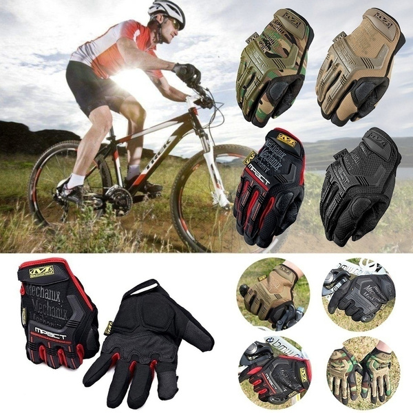 Mechanix Gloves Bike Military Army Paintball Sports Full Finger Gloves  Tactical Gloves