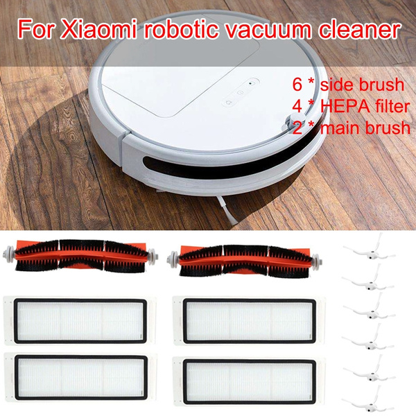 6 x side brush + 4x HEPA filter + 2x main brush Suitable for xiaomi vacuum  2 roborock s50 xiaomi roborock Xiaomi Mi Robot