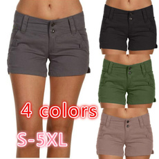 Summer, Plus Size, pants, casualshort
