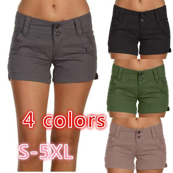 Summer, Plus Size, pants, casualshort