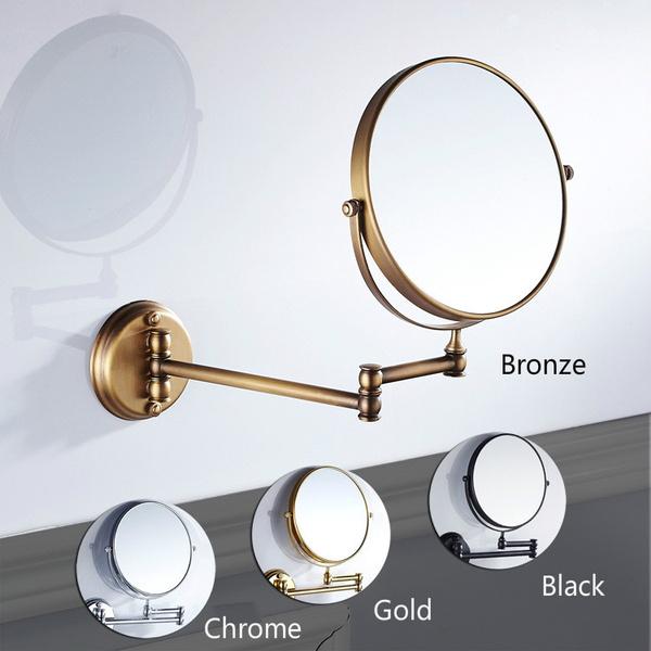 Flip Telescopic Beauty Mirror Wall