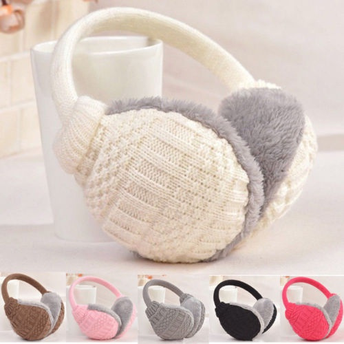 Mens Ear Muffs Winter Ear warmers Fleece Earwarmer Womens Behind the Head Band