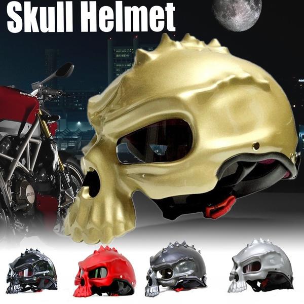 Masei 489 Skull Motorcycle Helmet Novelty Casque Motorbike Half  Helmets