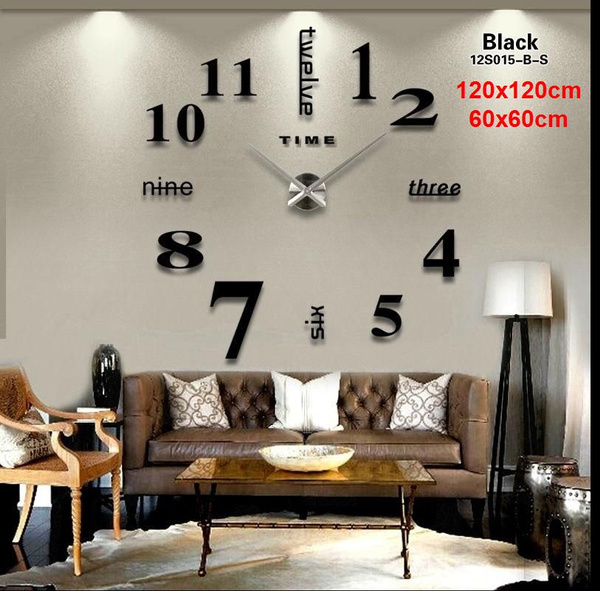 Modern Acrylic Mirror Diy Wall Clock