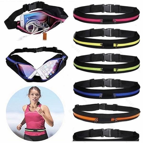 Running Sports Bum Bag Fanny Pack Fitness Jogging Cycling Waist Belt Pouch Pack