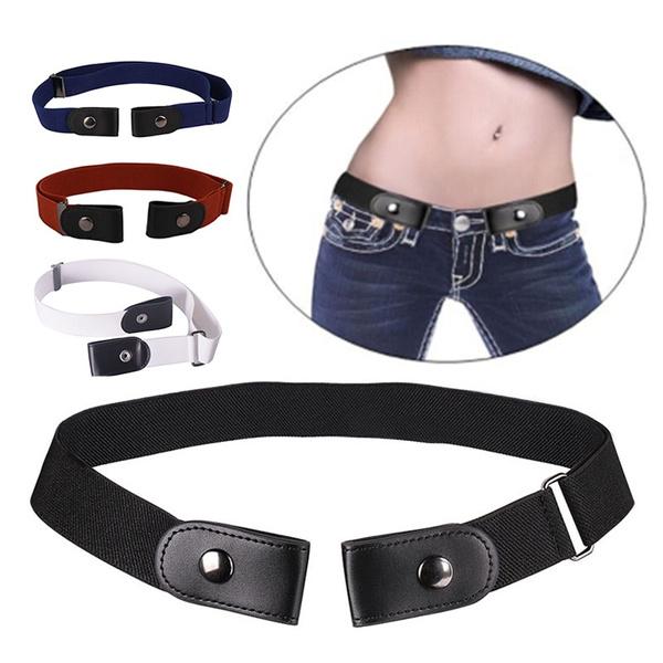b6db99caaf Fashion Men Women Buckle-Free Adjustable Stretch Belt No Buckle Show ...