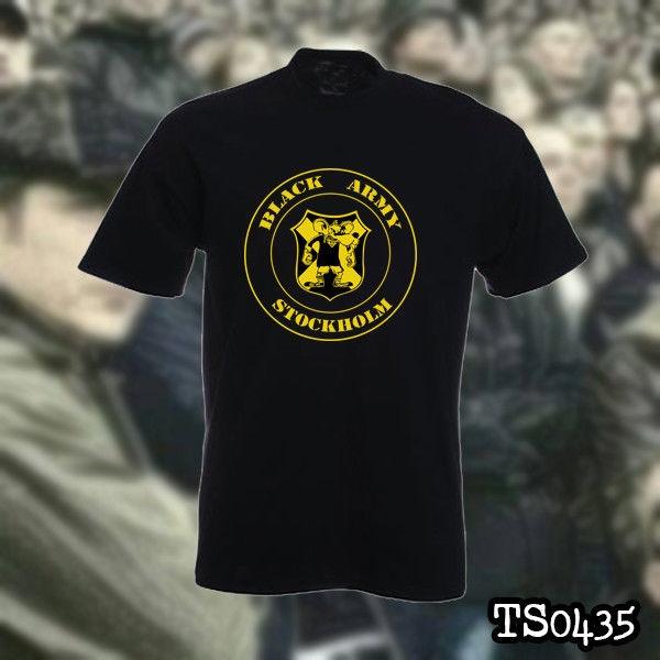 Popular Fashion Aik Stockholm Black Army Ultras Hooligans T Shirt Wish
