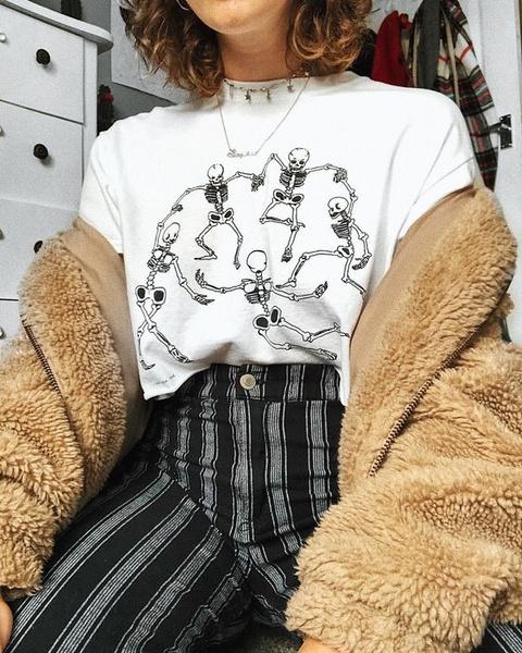 hipstershirt, street style, Grunge, Skeleton