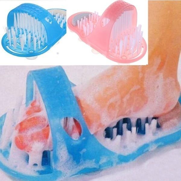 Plastic bath shoe shower brush massager slippers feet poumice stone foot scrub