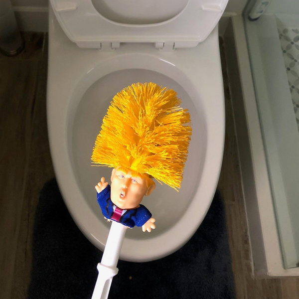 Toilet Cleaning Brush Donald Trump Funny WC Cleaner Gag Funny Gift
