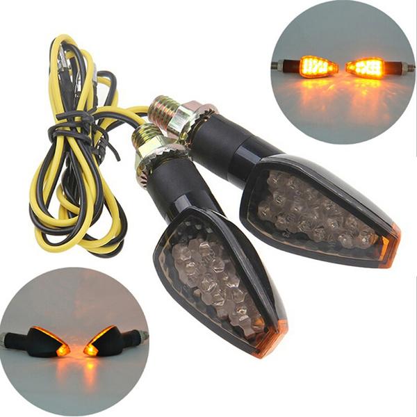 1 Pair 10mm Motorcycle Sidemarker Turn Signal Indicators Light Bulb Universal