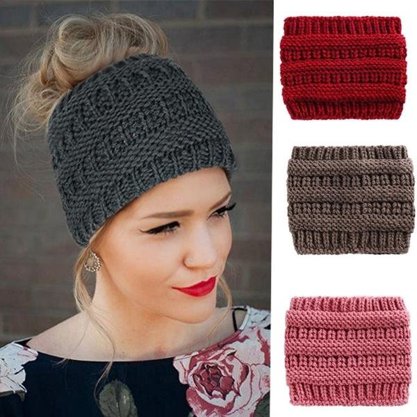 longhairbeanie, Warm Hat, ponytailhat, knittedcap
