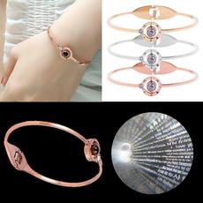 100languagesiloveyou, Steel, Titanium Steel Bracelet, Love