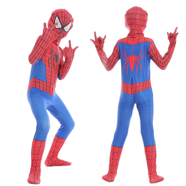 0a4d6ae6e1c93 Spiderman Costume Kid's 3d Boys Child the Amazing Spider Man Mask Costume  Suit Boys Girls Spandex Red Halloween Kids Cosplay