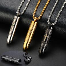Steel, petmemorialnecklace, Jewelry, Bullet