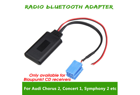 Auto bluetooth Wireless Radio AUX Adapter Cable for Blaupunkt receivers  AUDI Chorus 2/ Concert 1 2 Symphony 1 Car Electronics Accessories