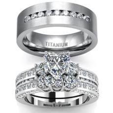 Couple Rings, Sterling, DIAMOND, wedding ring