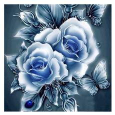 Flowers, Wall Art, Home Decor, diamondpainting