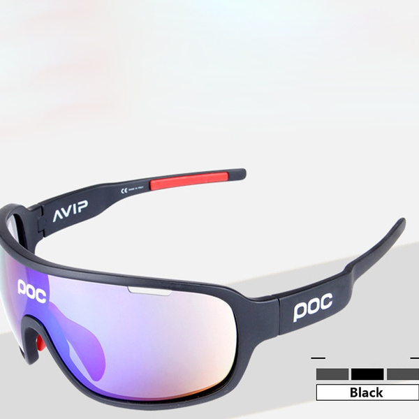 POC cycling glasses Polarized outdoor 5 pc riding mirror Running cycling goggles