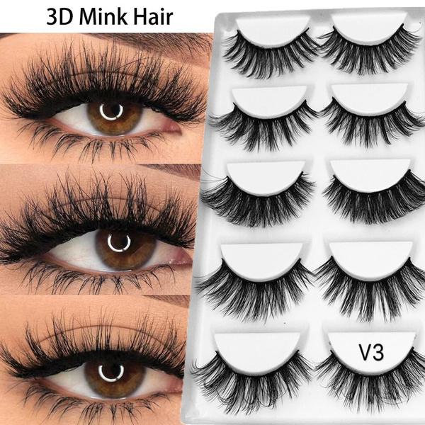 22249e1f95b False Eyelashes Eye Beauty. False Eyelashes Eye Beauty. 5 Pairs Multipack  Mink ...