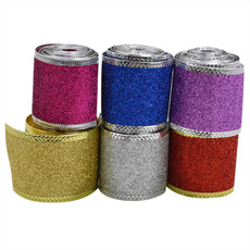 Wired Sheer Wide Ribbon Gauze Roll Christmas Tree  Decor Glitter DIY Box Package