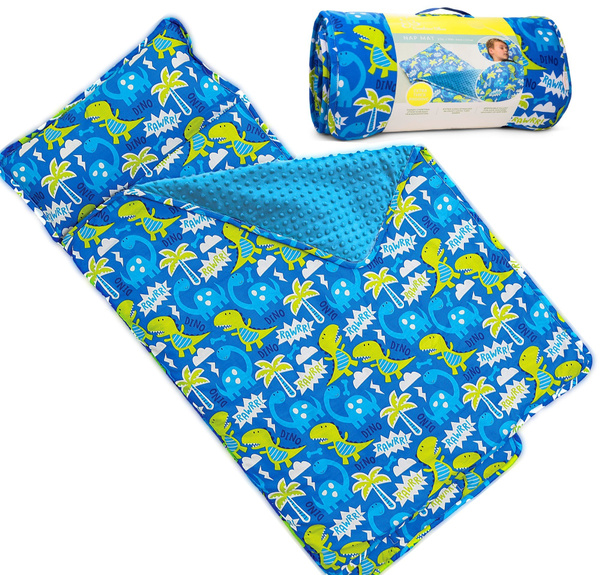 Kids Nap Mat With Removable Pillow Soft Lightweight Mats Easy