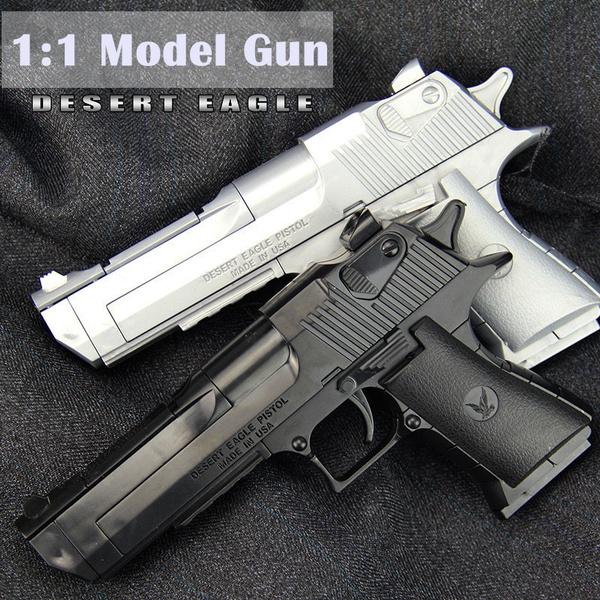 Desert Eagle 50 Gold Pistol Handgun 6mm BB Toy Gun Kids Children Military