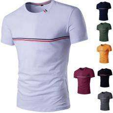 Fashion, basictee, Cotton T Shirt, mensshortsleevedshirt